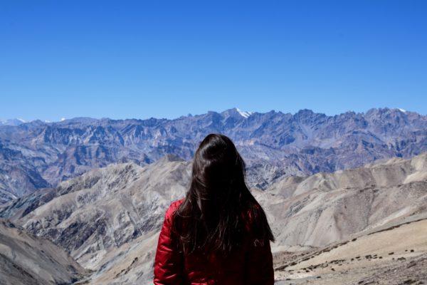 Views to the Zanskar Mountains and Sotk Kangri range